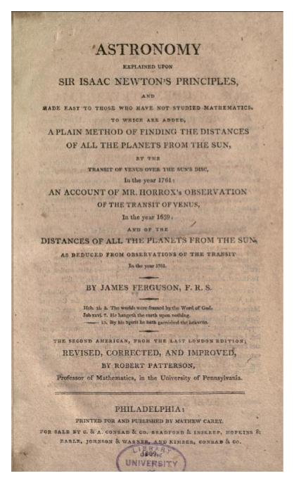 Meanwhile, back in 1809 astronomy… – Words and Stars